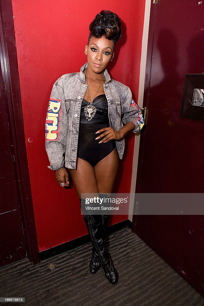 Singer Dawn Richard attends PHLEXtravaganza at Level 3 club in Hollywood & Highland Center on May 22, 2013 in Hollywood, California.
