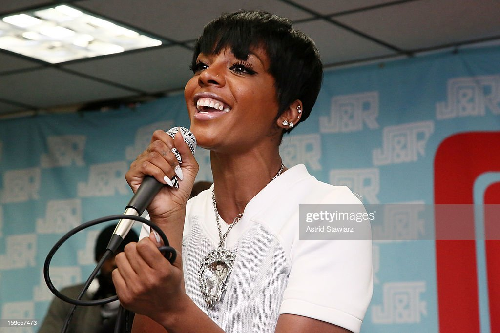 Singer Dawn Richard performs at J&R Music World on January 15, 2013 in New York City.