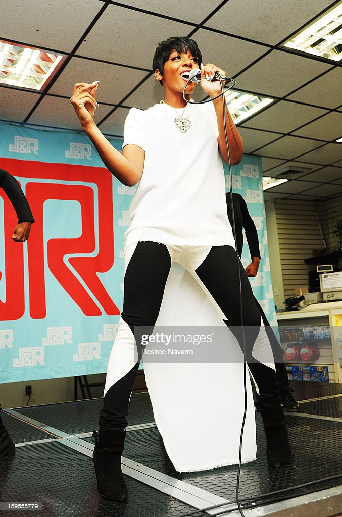 Singer Dawn Richard promotes 'Goldenheart' at J&R Music World on January 15, 2013 in New York City.