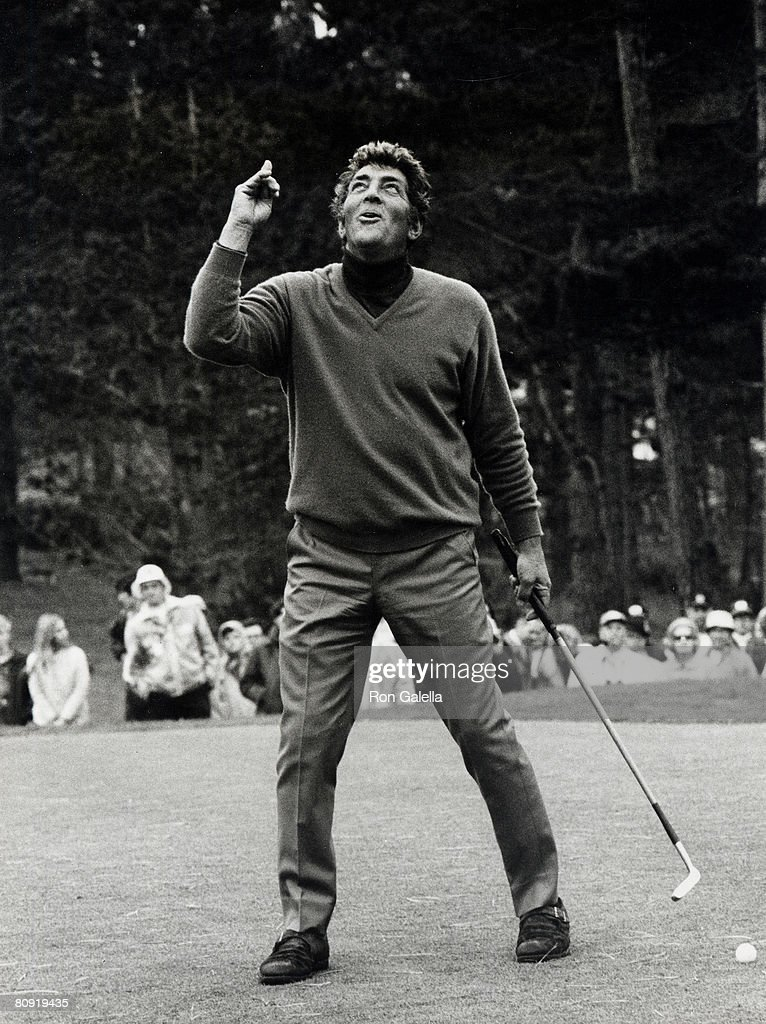 Singer Dean Martin attending 'Bing Crosby Clambake Golf Tounrament Charity Benefit' on January 22, 1970 at the Pebble Beach Golf Course in Monterey, California.
