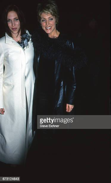 Singer Debbie Gibson left and Marla Maples attend Opening Night of 'I'm Still Here Damn It' at the Booth Theatre New York New York November 5 1998
