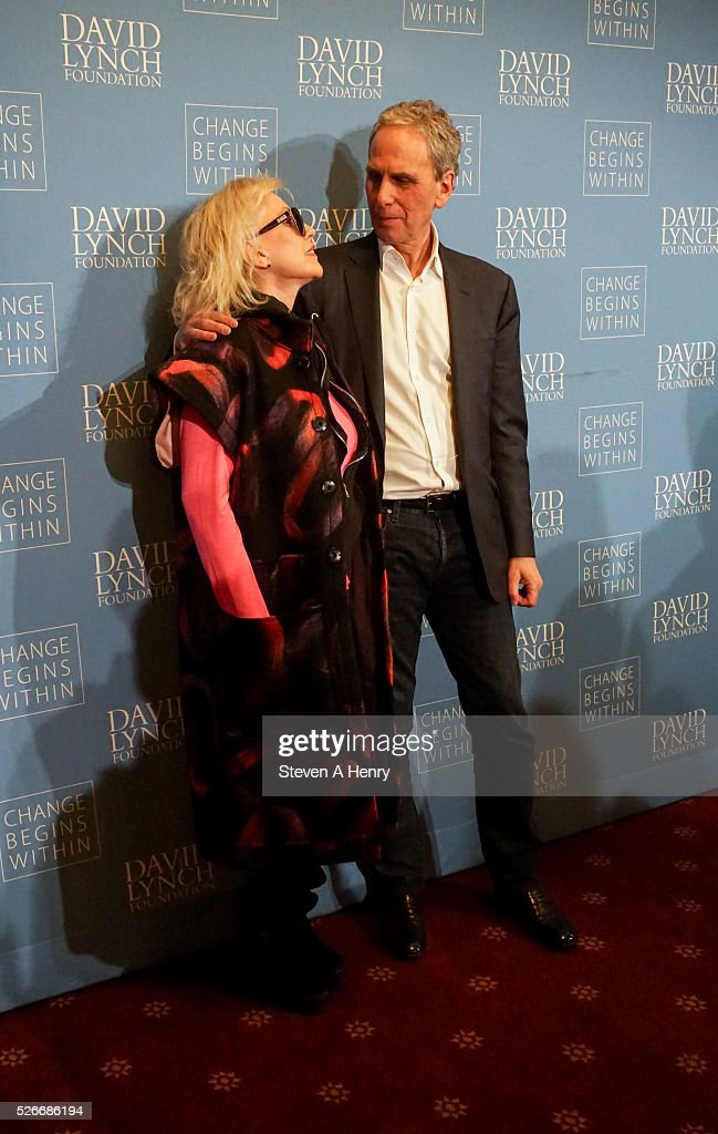 Singer Debbie Harry and Bob Roth attend 'An Amazing Night Of Comedy: A David Lynch Foundation Benefit For Veterans With PTSD' at New York City Center on April 30, 2016 in New York City.