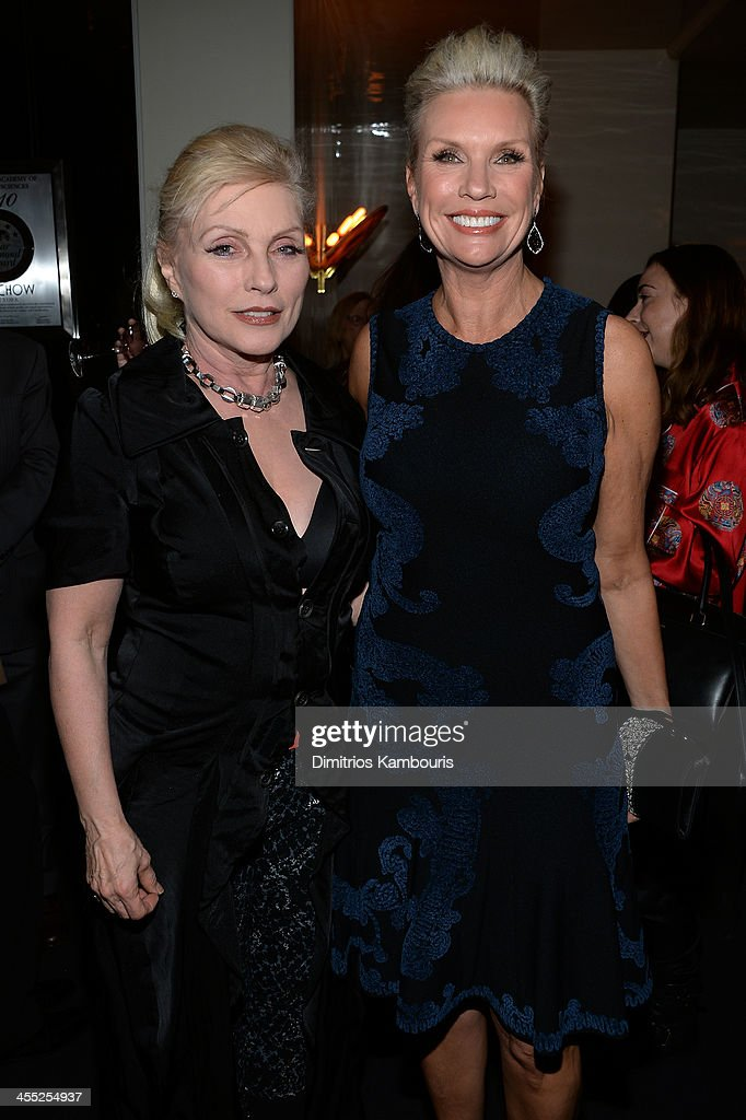 Singer <a gi-track='captionPersonalityLinkClicked' href=/galleries/search?phrase=Debbie+Harry&family=editorial&specificpeople=209145 ng-click='$event.stopPropagation()'>Debbie Harry</a> and President of MAC Cosmetics Karen Buglisi attends MAC Cosmetic's John Demsey and Zac Posen's dinner to celebrate his Pre- Fall Collection at Mr Chow on December 11, 2013 in New York City.