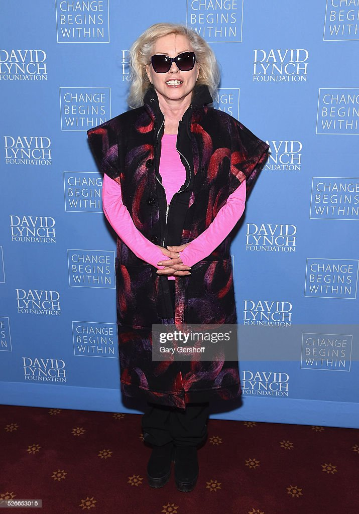 Singer Debbie Harry attends 'An Amazing Night of Comedy: A David Lynch Foundation Benefit for Veterans with PTSD' on April 30, 2016 in New York City.