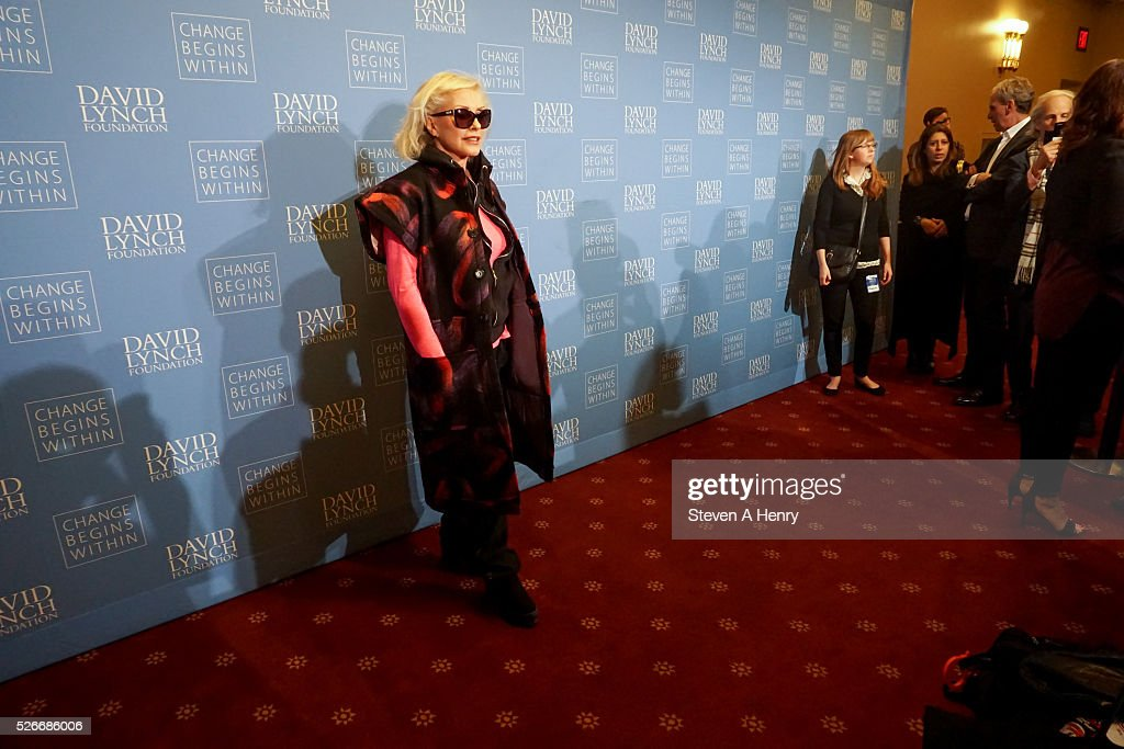 Singer <a gi-track='captionPersonalityLinkClicked' href=/galleries/search?phrase=Debbie+Harry&family=editorial&specificpeople=209145 ng-click='$event.stopPropagation()'>Debbie Harry</a> attends 'An Amazing Night Of Comedy: A David Lynch Foundation Benefit For Veterans With PTSD' at New York City Center on April 30, 2016 in New York City.