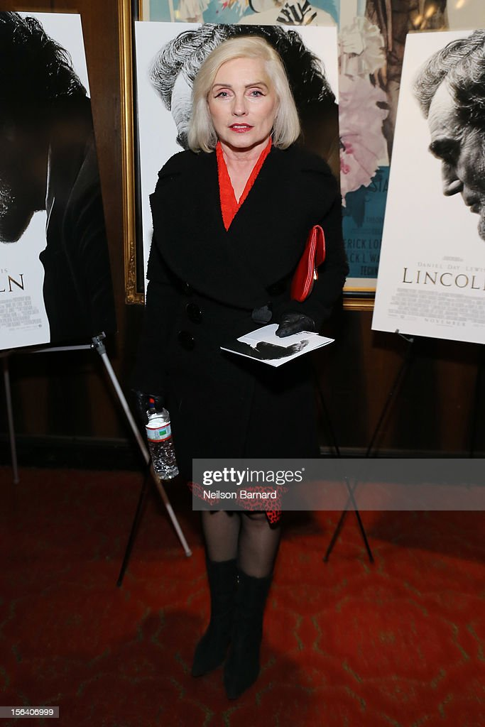 Singer <a gi-track='captionPersonalityLinkClicked' href=/galleries/search?phrase=Debbie+Harry&family=editorial&specificpeople=209145 ng-click='$event.stopPropagation()'>Debbie Harry</a> attends the special screening of Steven Spielberg's Lincoln at the Ziegfeld Theatre on November 14, 2012 in New York City.
