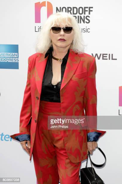 Singer Debbie Harry of Blondie attends Nordoff Robbins O2 Silver Clef awards at The Grosvenor House Hotel on June 30 2017 in London England