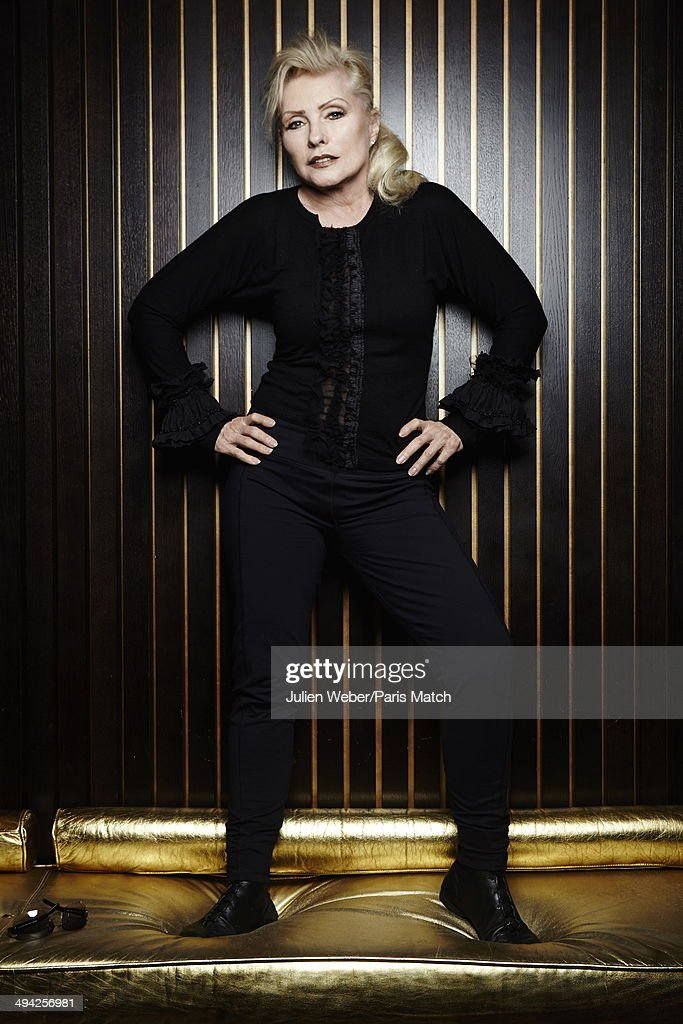 Singer Debbie Harry of Blondie is photographed for Paris Match at the Hotel Banke on January 21, 2014 in Paris,France.