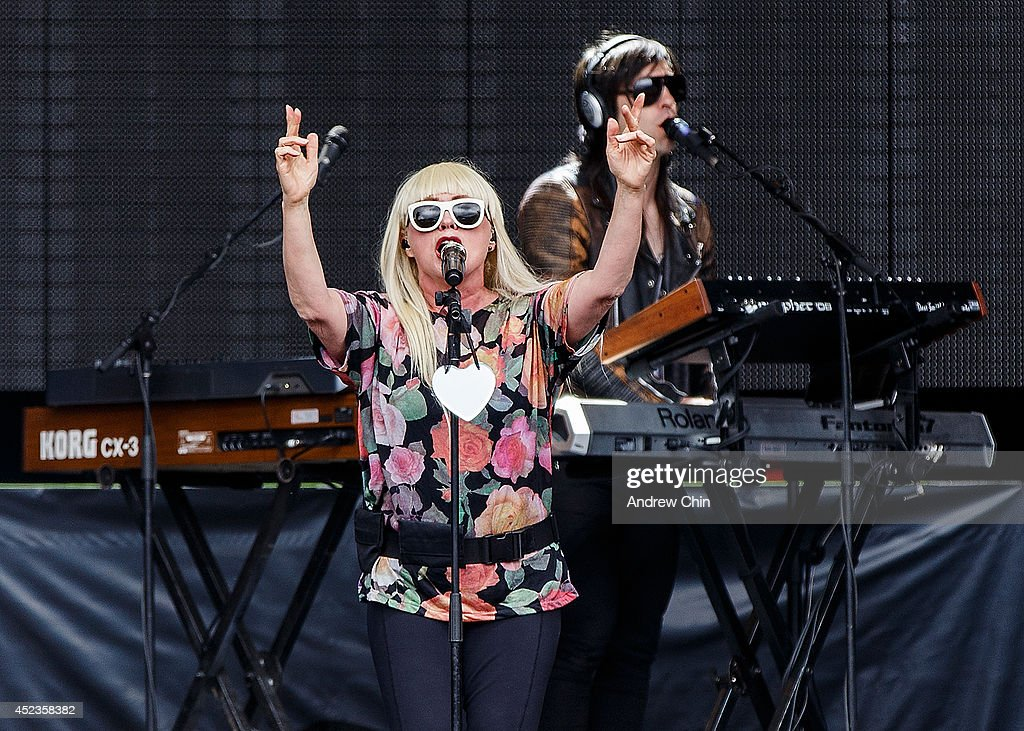 Singer Debbie Harry of Blondie performs during Day 1 of Pemberton Music and Arts Festival on July 18, 2014 in Pemberton, Canada.