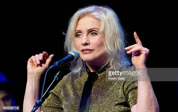Singer Debbie Harry of Blondie performs during the 34th Annual John Lennon Tribute Benefit Concert at Symphony Space on December 5 2014 in New York...