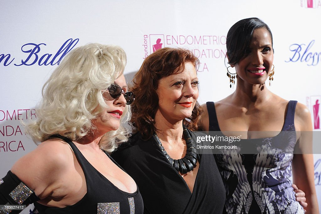 Singer Deborah Harry, actress <a gi-track='captionPersonalityLinkClicked' href=/galleries/search?phrase=Susan+Sarandon&family=editorial&specificpeople=202474 ng-click='$event.stopPropagation()'>Susan Sarandon</a> and TV Personality <a gi-track='captionPersonalityLinkClicked' href=/galleries/search?phrase=Padma+Lakshmi&family=editorial&specificpeople=201593 ng-click='$event.stopPropagation()'>Padma Lakshmi</a> attend The Endometriosis Foundation of America's Celebration of The 5th Annual Blossom Ball at Capitale on March 11, 2013 in New York City.