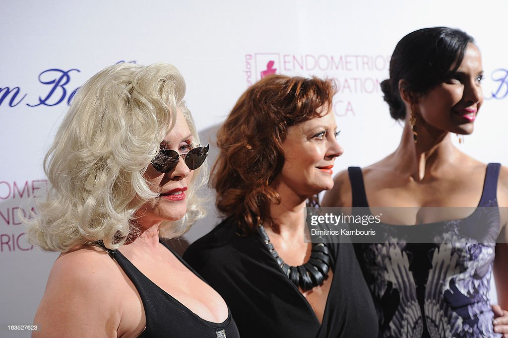 Singer Deborah Harry, actress Susan Sarandon and TV Personality Padma Lakshmi attend The Endometriosis Foundation of America's Celebration of The 5th Annual Blossom Ball at Capitale on March 11, 2013 in New York City.
