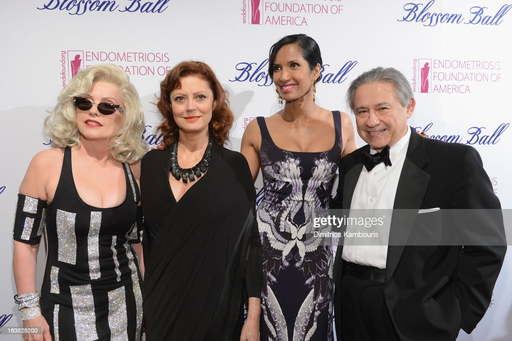 Singer Deborah Harry, actress Susan Sarandon, TV Personality Padma Lakshmi and Foundation founder Tamer Seckin attend The Endometriosis Foundation of America's Celebration of The 5th Annual Blossom Ball at Capitale on March 11, 2013 in New York City.