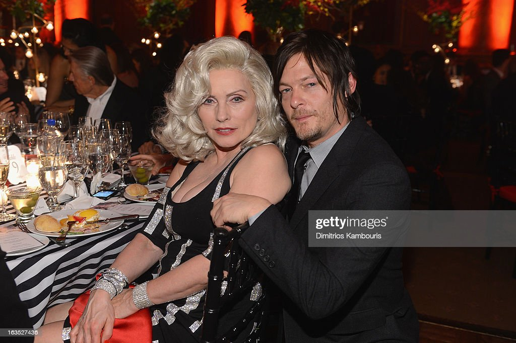 Singer Deborah Harry and actor Norman Reedus attend the Endometriosis Foundation of America's Celebration of The 5th Annual Blossom Ball at Capitale on March 11, 2013 in New York City.