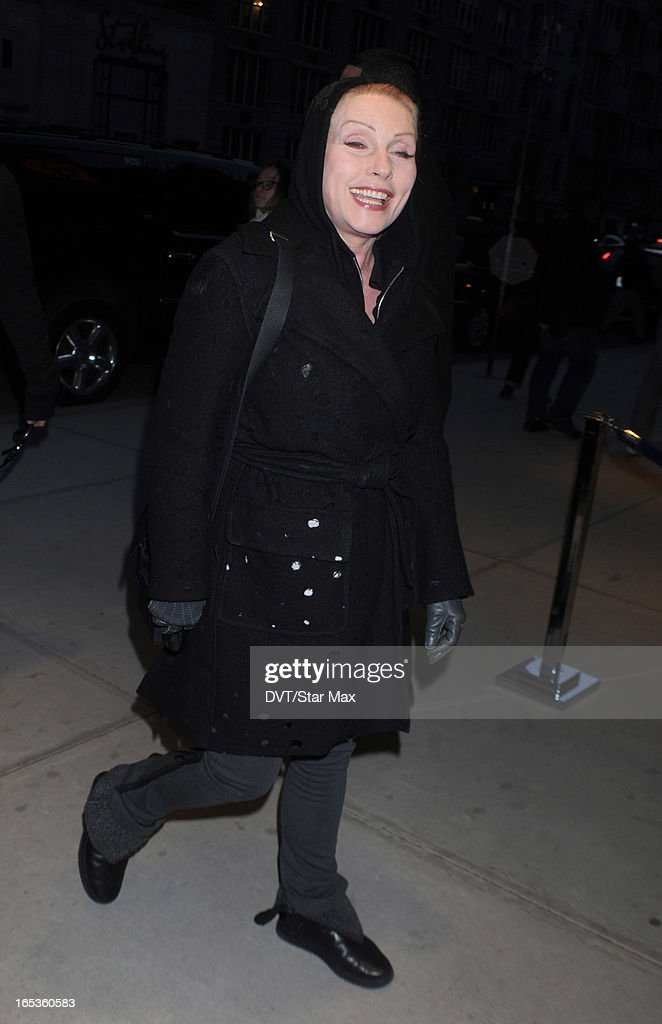 Singer Deborah Harry is seen on April 2, 2013 in New York City.
