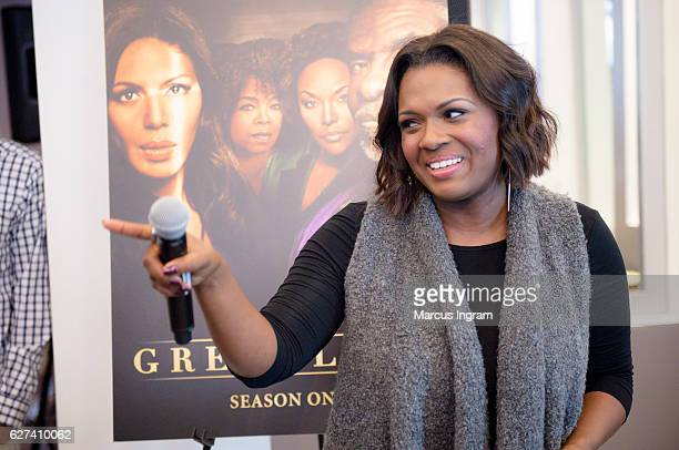 Singer Deborah Joy Winans attends Lionsgate 'Greenleaf' DVD celebration at Gocha Salon on December 3 2016 in Atlanta Georgia