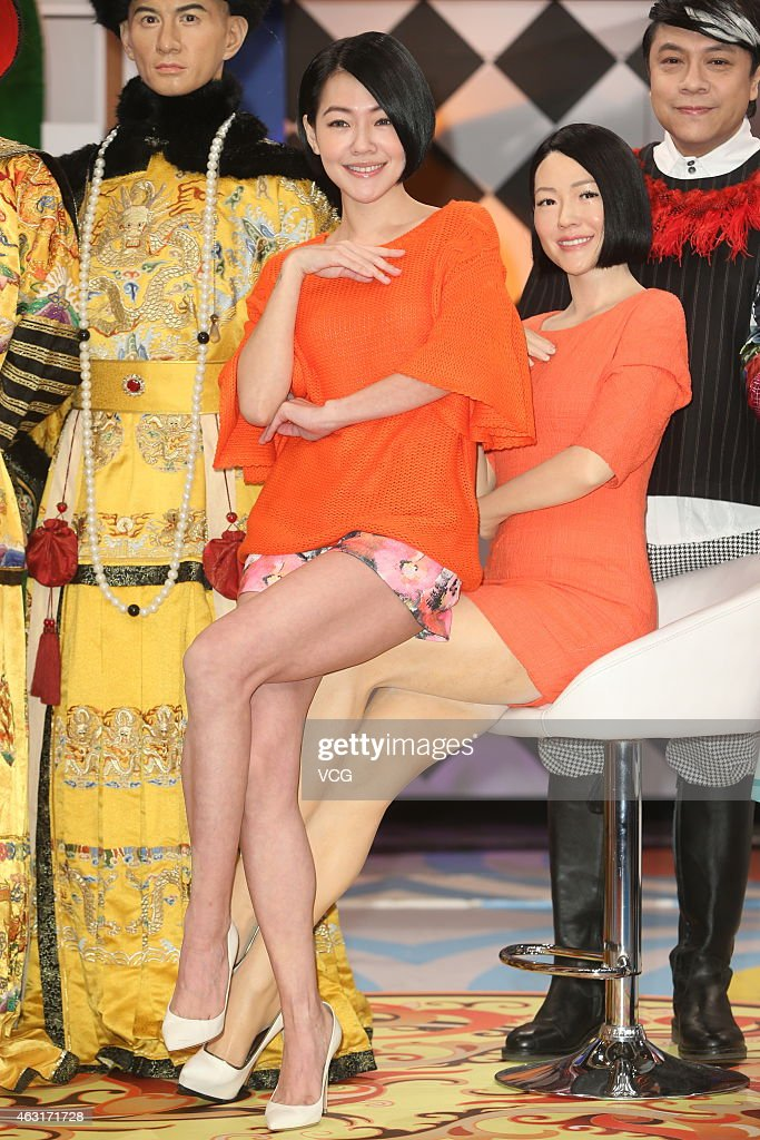 Singer <a gi-track='captionPersonalityLinkClicked' href=/galleries/search?phrase=Dee+Hsu&family=editorial&specificpeople=4238913 ng-click='$event.stopPropagation()'>Dee Hsu</a> poses with wax figures of <a gi-track='captionPersonalityLinkClicked' href=/galleries/search?phrase=Nicky+Wu&family=editorial&specificpeople=6739146 ng-click='$event.stopPropagation()'>Nicky Wu</a>, Kevin Tsai and herself made by Madame Tussauds on February 11, 2015 in Taipei, Taiwan of China.