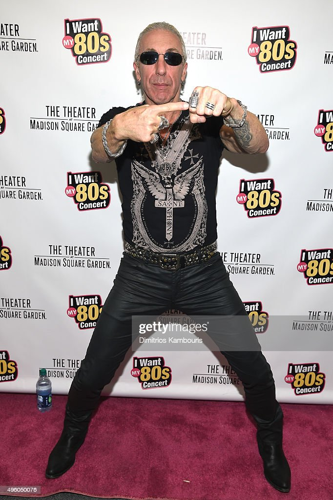 Singer Dee Snider attends the 'I Want My 80's' Concert at The Theater at Madison Square Garden on November 6, 2015 in New York City.