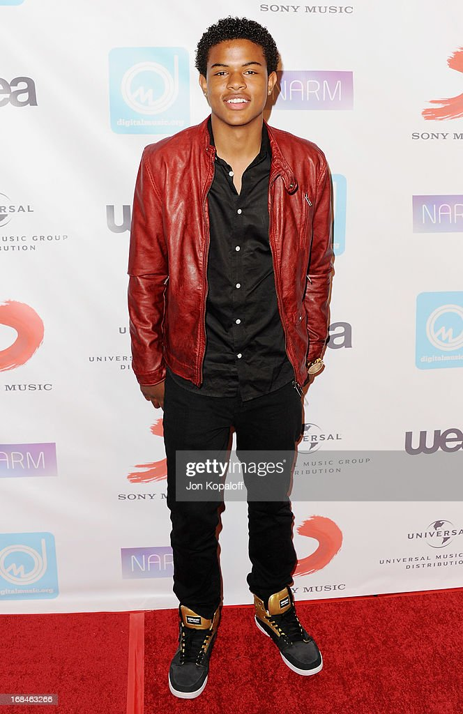 Singer Deitrick Haddon arrives at the NARM Music Biz 2013 Awards Dinner Party at the Hyatt Regency Century Plaza on May 9, 2013 in Century City, California.