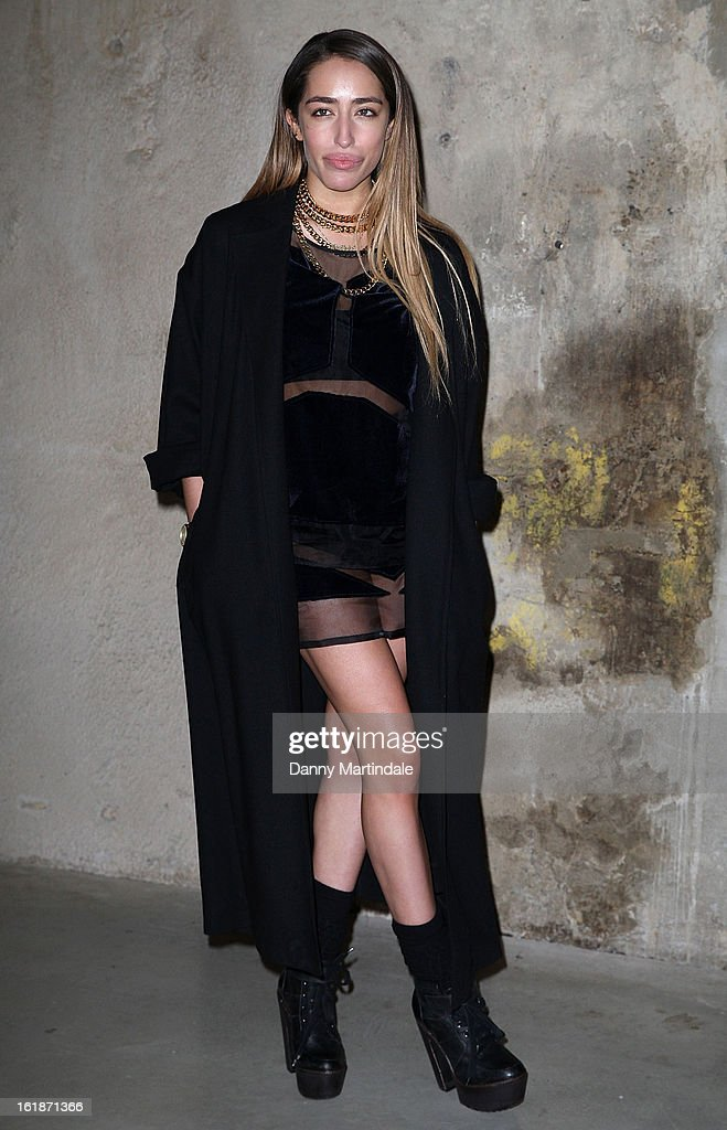 Singer Delilah attends the Unique show during London Fashion Week Fall/Winter 2013/14 at TopShop Show Space on February 17, 2013 in London, England.