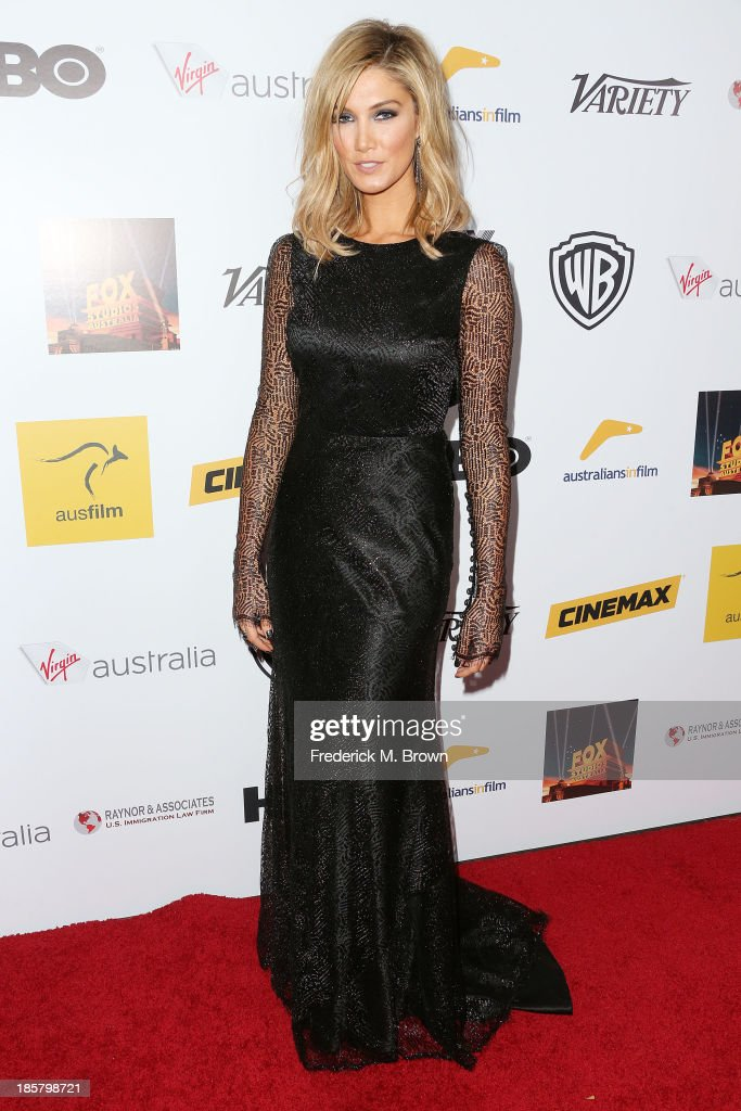 Singer <a gi-track='captionPersonalityLinkClicked' href=/galleries/search?phrase=Delta+Goodrem&family=editorial&specificpeople=201895 ng-click='$event.stopPropagation()'>Delta Goodrem</a> attends the Australians in Film Benefit Dinner at the at Intercontinental Hotel on October 24, 2013 in Beverly Hills, California.