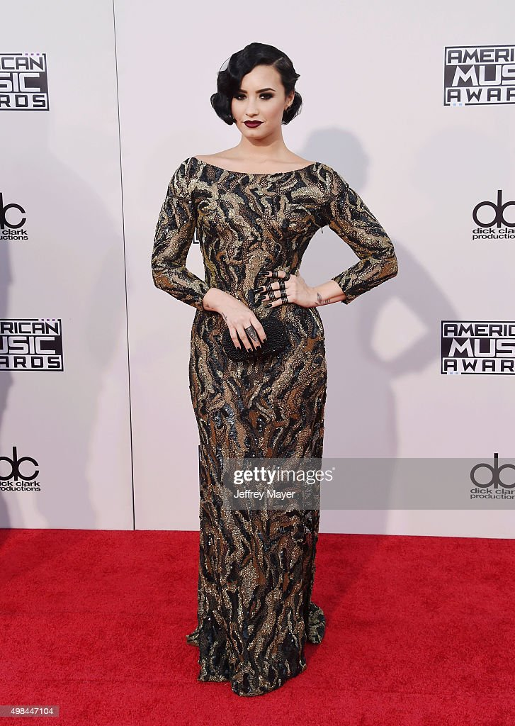 Singer Demi Lovato arrives at the 2015 American Music Awards at Microsoft Theater on November 22, 2015 in Los Angeles, California.