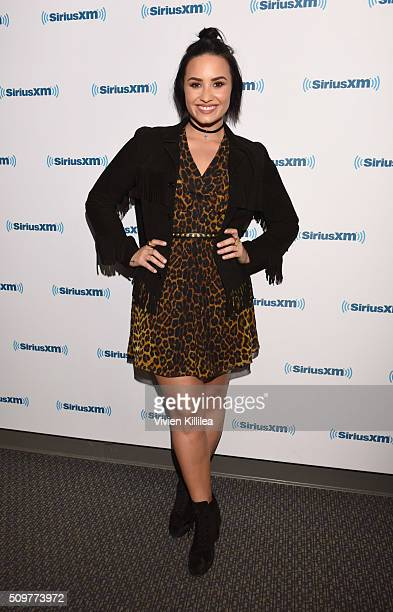 Singer Demi Lovato attends SiriusXM Hits 1's The Morning Mash Up Broadcast From The SiriusXM Studios In Los Angeles on February 12 2016 in Los...