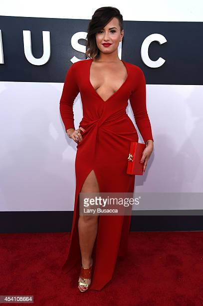 Singer Demi Lovato attends the 2014 MTV Video Music Awards at The Forum on August 24 2014 in Inglewood California