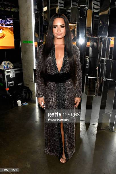 Singer Demi Lovato attends The 59th GRAMMY Awards at STAPLES Center on February 12 2017 in Los Angeles California