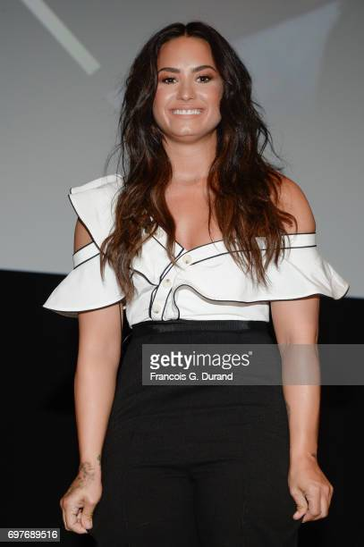 Singer Demi Lovato attends 'The Changing Face of Original Content' Seminar hosted by Youtube during the Cannes Lions Festival 2017 on June 19 2017 in...