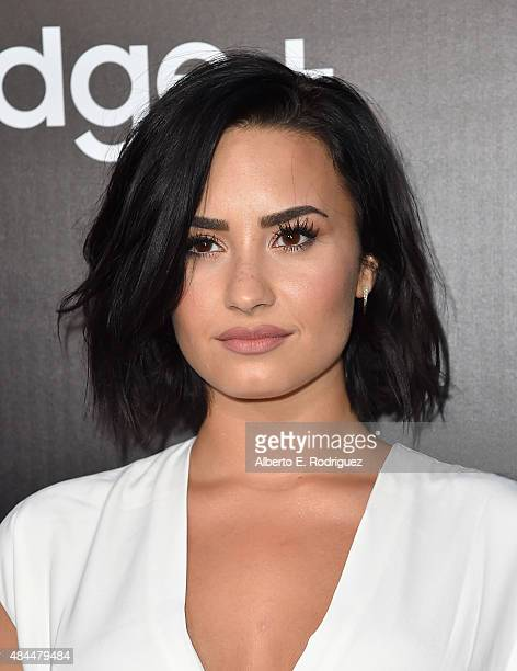 Singer Demi Lovato attends the Samsung Galaxy S6 Edge Plus and Note 5 Launch party on August 18 2015 in West Hollywood California