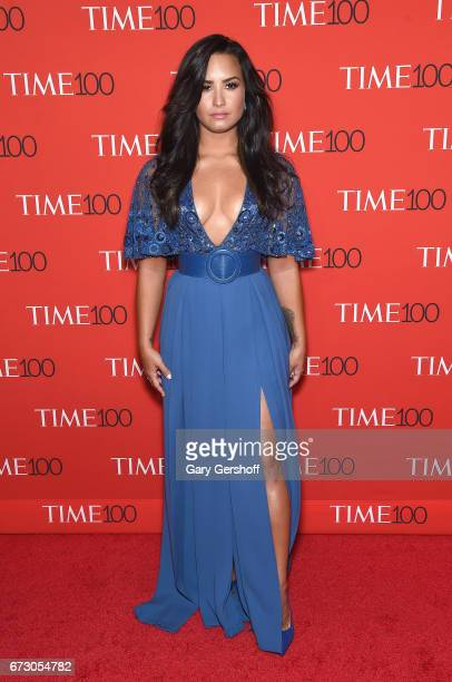 Singer Demi Lovato attends the Time 100 Gala at Frederick P Rose Hall Jazz at Lincoln Center on April 25 2017 in New York City