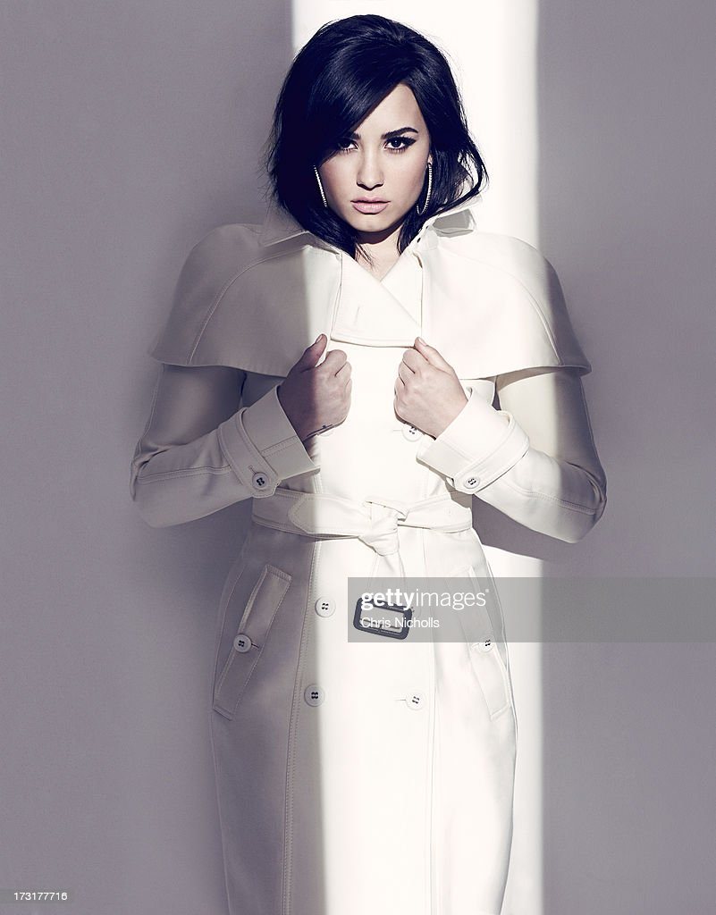 Singer <a gi-track='captionPersonalityLinkClicked' href=/galleries/search?phrase=Demi+Lovato&family=editorial&specificpeople=4897002 ng-click='$event.stopPropagation()'>Demi Lovato</a> is photographed for Fashion Magazine on August 1, 2013 in Los Angeles, California. Jacket (Burberry Prorsum), earrings (John Hardy). PUBLISHED