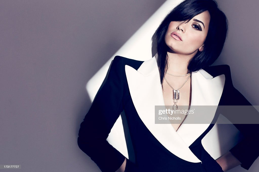 Singer <a gi-track='captionPersonalityLinkClicked' href=/galleries/search?phrase=Demi+Lovato&family=editorial&specificpeople=4897002 ng-click='$event.stopPropagation()'>Demi Lovato</a> is photographed for Fashion Magazine on August 1, 2013 in Los Angeles, California. Jacket (Alexander McQueen), necklace (Liza Shtromberg). PUBLISHED