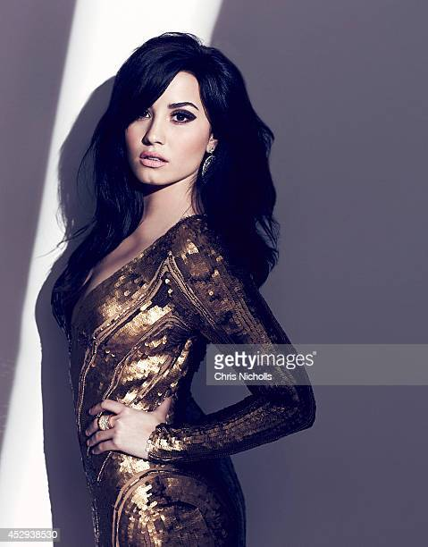 Singer Demi Lovato is photographed for Fashion Magazine on August 1 2013 in Los Angeles California ON DOMESTIC EMBARGO UNTIL OCTOBER 5 2013 ON...