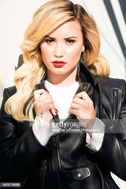 Singer Demi Lovato is photographed for Glamour Mexico on September 11 2013 in Los Angeles California Styling Zeina Esmail Makeup Jill Powell Hair...