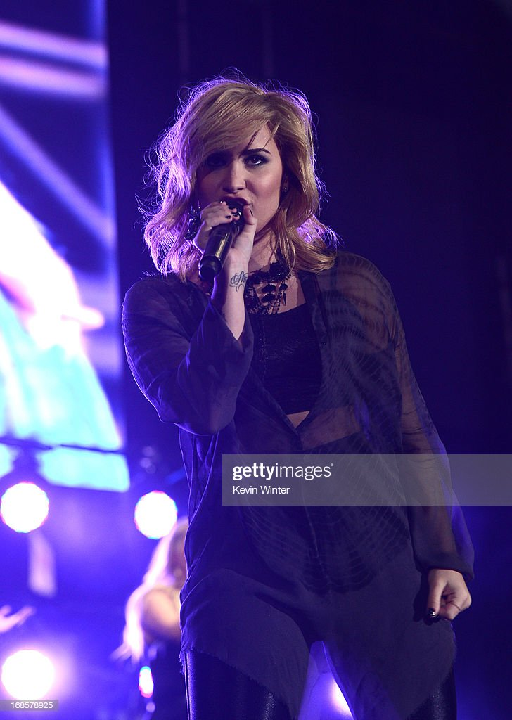 Singer Demi Lovato performs at 102.7 KIIS FM's Wango Tango 2013 held at The Home Depot Center on May 11, 2013 in Carson, California.