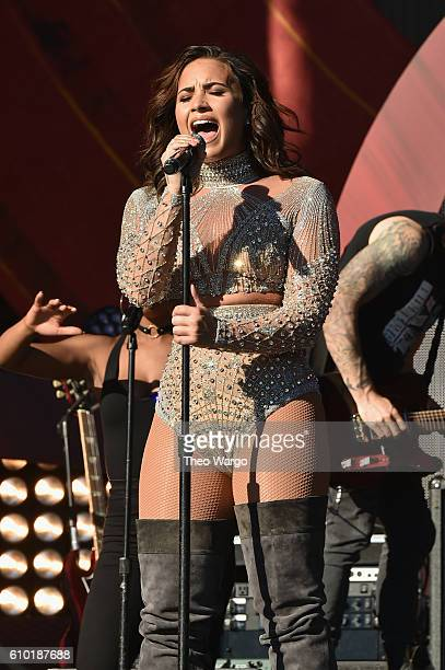 Singer Demi Lovato performs onstage at the 2016 Global Citizen Festival In Central Park To End Extreme Poverty By 2030 at Central Park on September...