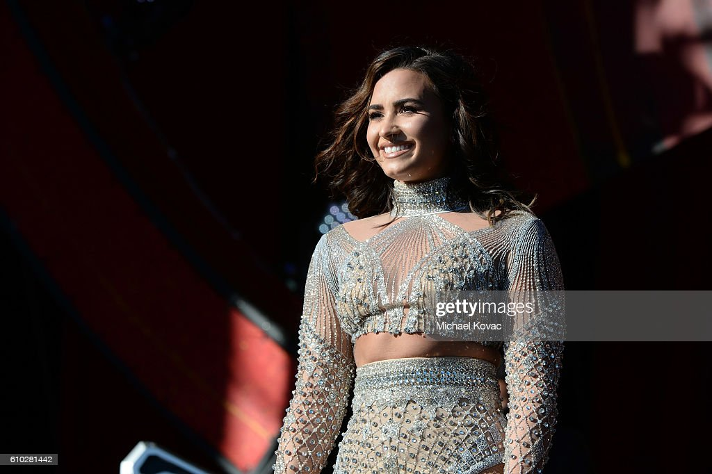 Singer Demi Lovato performs onstage at the 2016 Global Citizen Festival in Central Park To End Extreme Poverty By 2030 at Central Park on September 24, 2016 in New York City.