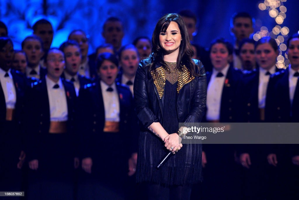 Singer <a gi-track='captionPersonalityLinkClicked' href=/galleries/search?phrase=Demi+Lovato&family=editorial&specificpeople=4897002 ng-click='$event.stopPropagation()'>Demi Lovato</a> performs onstage during TNT Christmas in Washington 2012 at National Building Museum on December 9, 2012 in Washington, DC. 23098_002_TW_0555.JPG