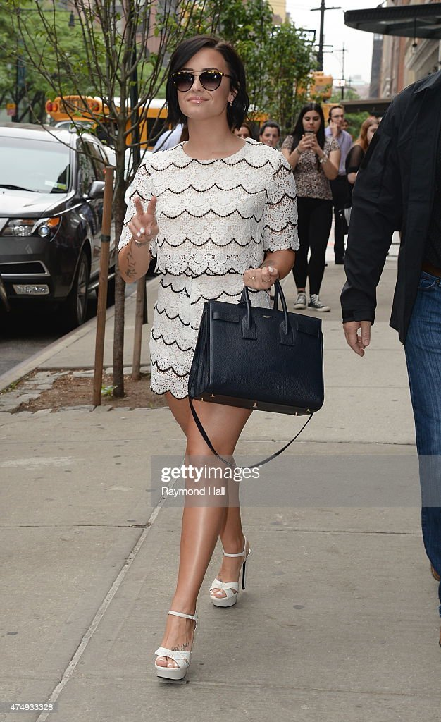 Singer Demi Lovato Leaving Hotel 28 York Picture Celebrity Sightings  City Getty Images