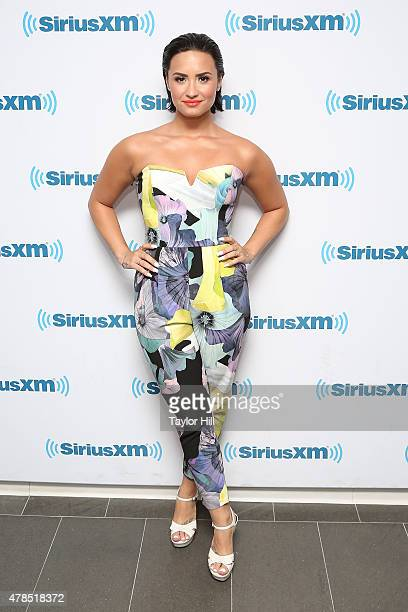 Singer Demi Lovato visits SiriusXM'1 Hits 1 at SiriusXM Studios on June 25 2015 in New York City