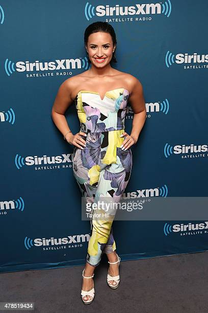 Singer Demi Lovato visits 'The Morning Mash Up' on SiriusXM's Hits 1 at SiriusXM Studios on June 25 2015 in New York City