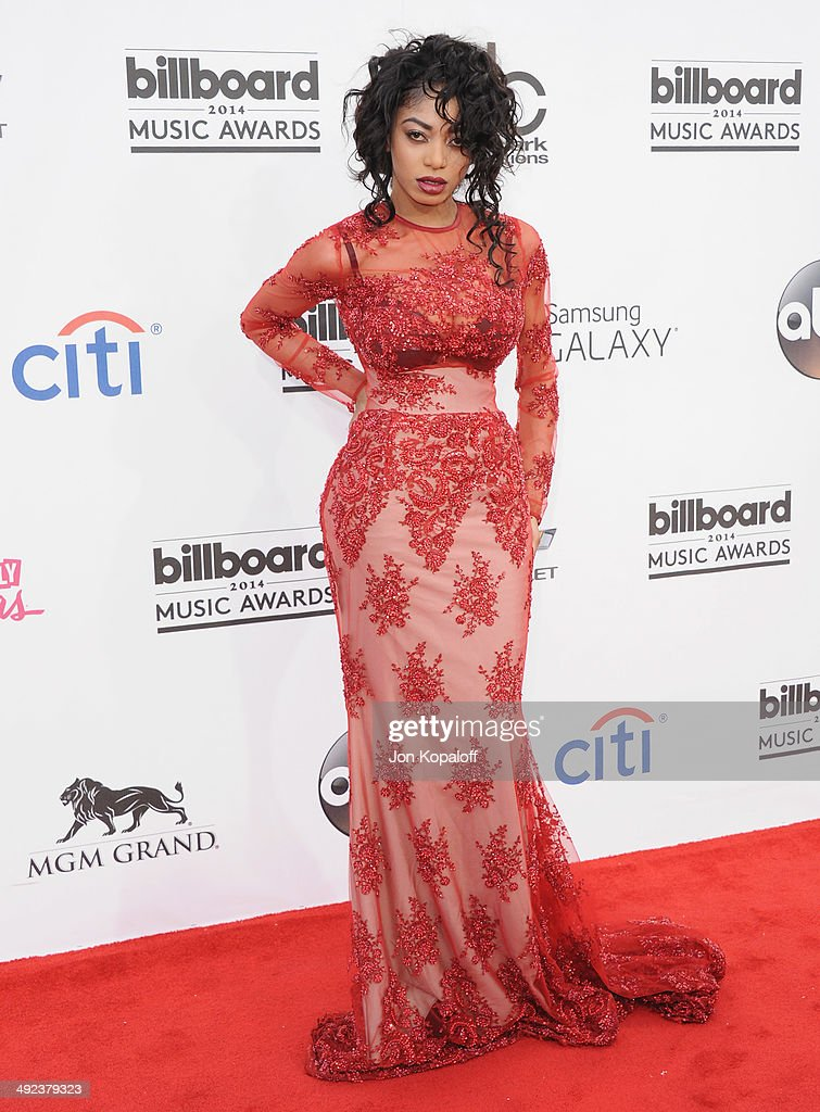 Singer <a gi-track='captionPersonalityLinkClicked' href=/galleries/search?phrase=Dencia&family=editorial&specificpeople=11151494 ng-click='$event.stopPropagation()'>Dencia</a> arrives at the 2014 Billboard Music Awards at the MGM Grand Hotel and Casino on May 18, 2014 in Las Vegas, Nevada.
