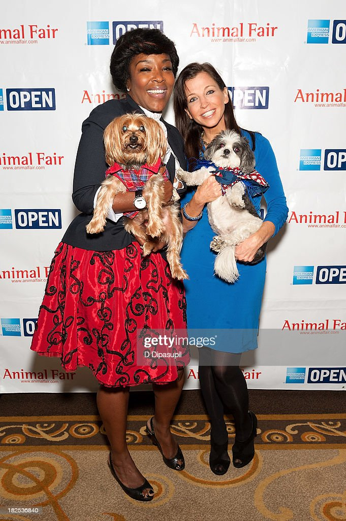 Singer Denise Weeks (L) and <a gi-track='captionPersonalityLinkClicked' href=/galleries/search?phrase=Wendy+Diamond&family=editorial&specificpeople=663985 ng-click='$event.stopPropagation()'>Wendy Diamond</a> attend the 'Animalfair.com's Bark Business Tour Benefiting K9s For Warriors at the Omni Berkshire Place Hotel on September 30, 2013 in New York City.