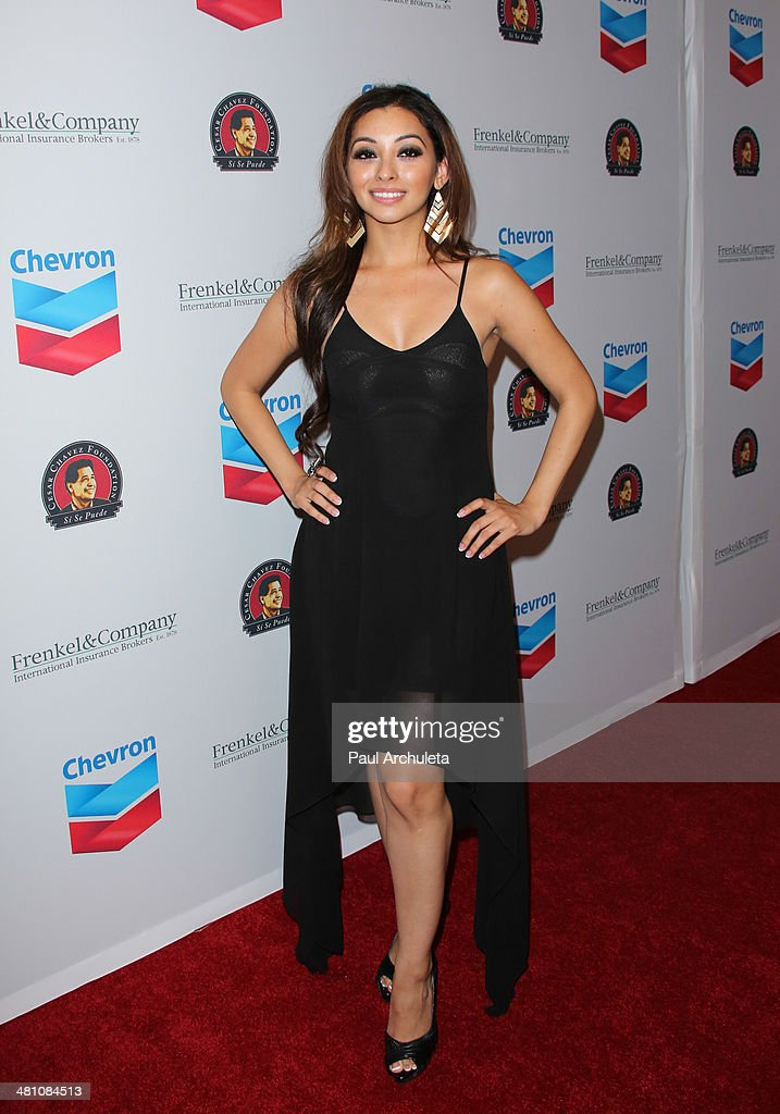 Singer Desiree Estrada attends the Cesar Chavez Foundation's 2014 Legacy Awards dinner at Millennium Biltmore Hotel on March 28, 2014 in Los Angeles, California.