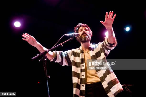 Singer Devendra Banhart performs live on stage during a concert at the Columbiahalle on June 20 2017 in Berlin Germany