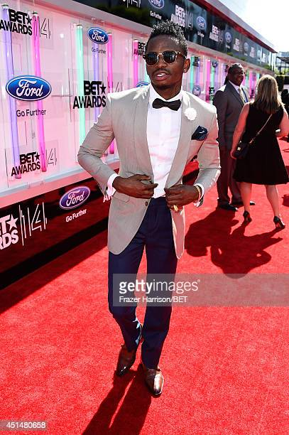Singer Diamond Platnumz attends the BET AWARDS '14 at Nokia Theatre LA LIVE on June 29 2014 in Los Angeles California
