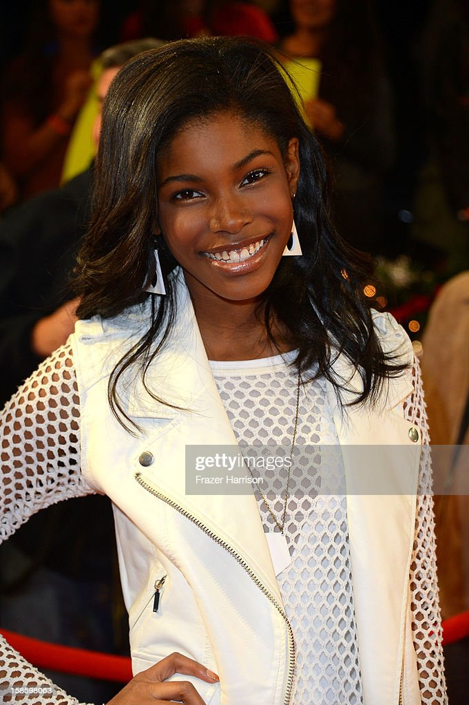 Singer Diamond White arrives at Fox's 'The X Factor' Season Finale Night 1 at CBS Television City on December 19, 2012 in Los Angeles, California.