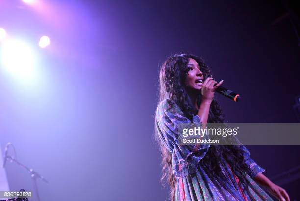 Singer Diana Gordon performs onstage during the GIRL CULT Festival at The Fonda Theatre on August 20 2017 in Los Angeles California
